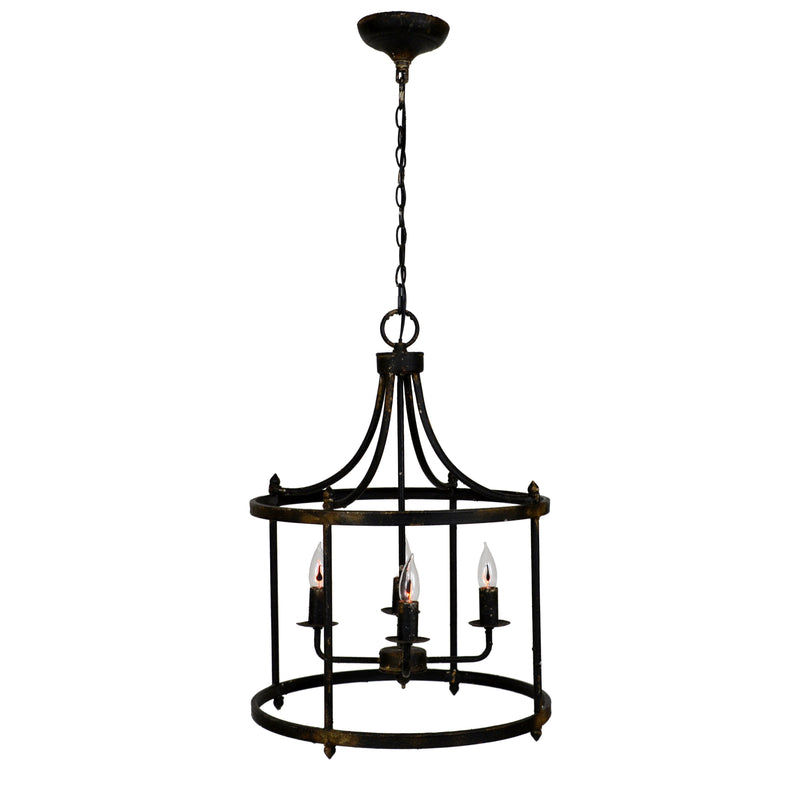 Century 4 Light Black Pendant Lantern