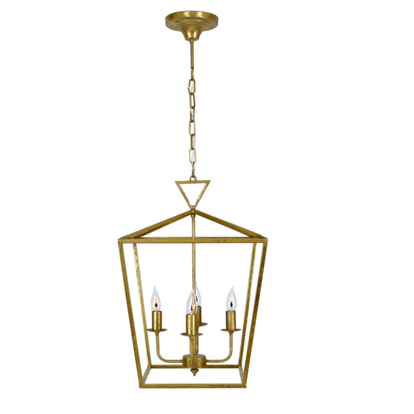 Dana 4 Light Gold Lantern - Lillian Home