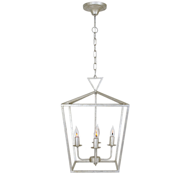 Dana 4 Light Silver Leaf Pendant Lantern