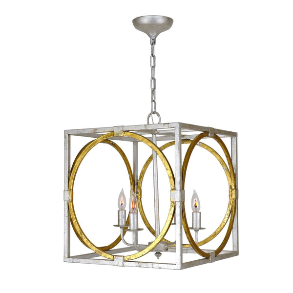Rolly Silver Gold 4 Light Lantern S - Lillian Home