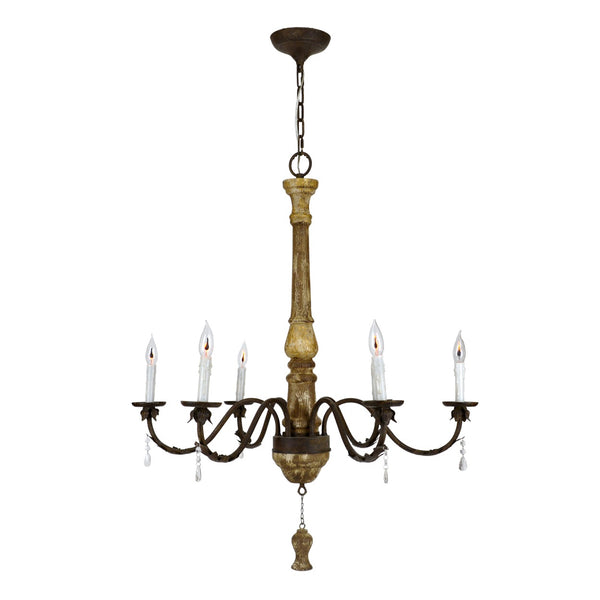 Milano Wood Chandelier - Lillian Home