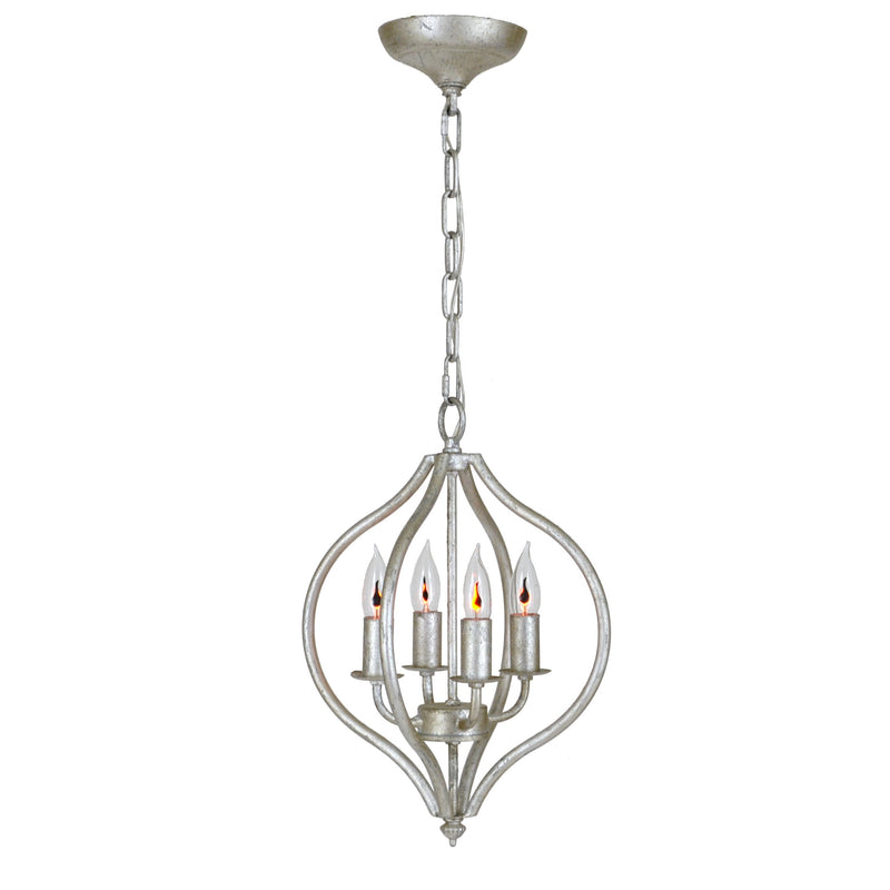 Orchid Silver Leaf 4 Light Pendant Light - Lillian Home