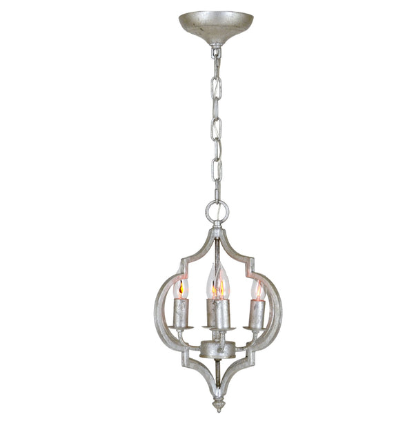 Marissa Silver Leaf 4 Light Pendant Light - Lillian Home