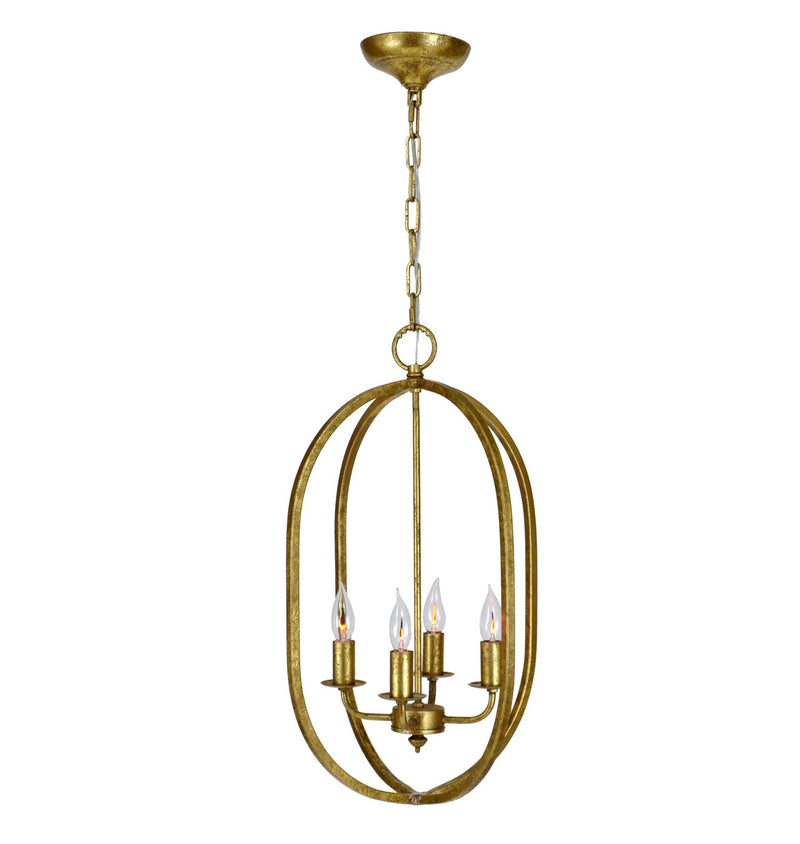 Ovation 4 Light Gold Pendant Light - Lillian Home