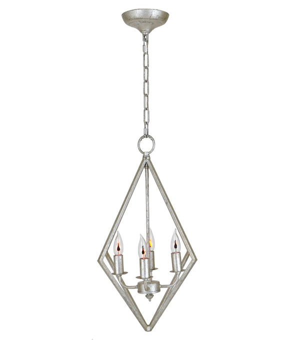 Averes 4 Light Silver Leaf Pendant Light