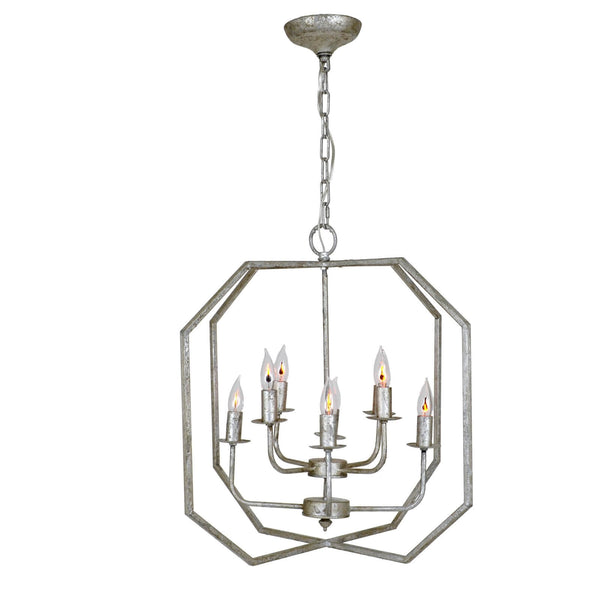 Panamroma Silver 8 Light. Lantern
