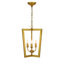 Nicole 3 Light Gold Lantern - Lillian Home