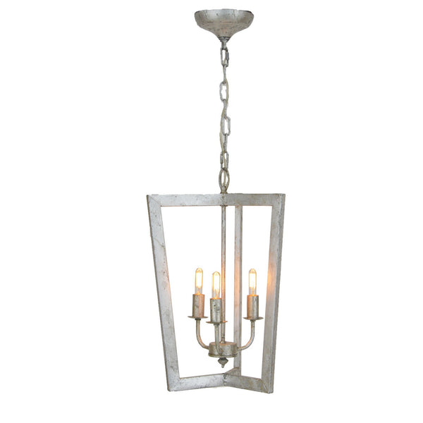 Nicole 3 Light Silver Lantern