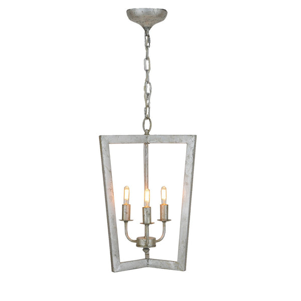 Silver 3 light pendant light, designer lighting in silver finish