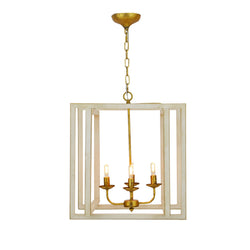 Martin White and Gold 4 Light Pendant - Lillian Home