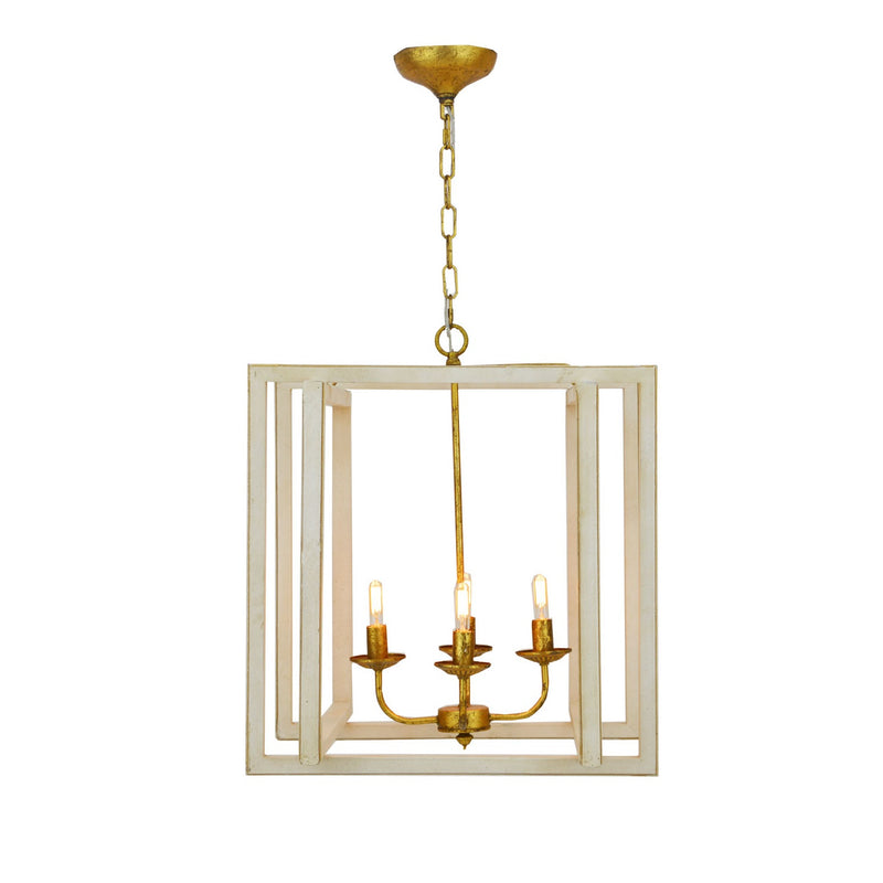 Martin 4 Light White and Gold Lantern - Lillian Home