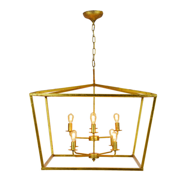 Anna 8 Light Gold Leaf Lantern