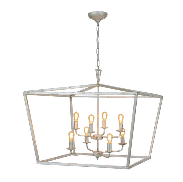 Anna 8 Light Silver Leaf Lantern