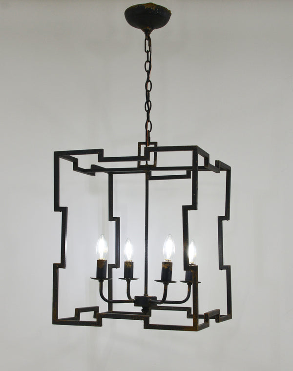 Aura 4 Light Black Lantern - Lillian Home