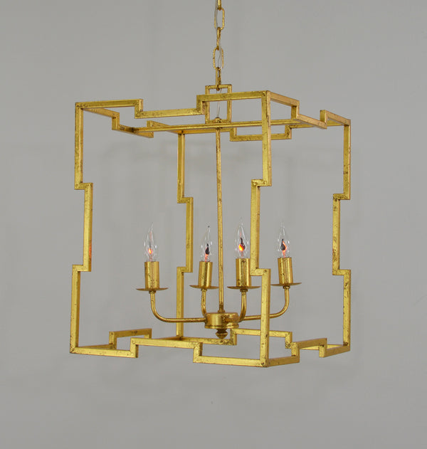 Aura 4 Light Gold Lantern - Lillian Home