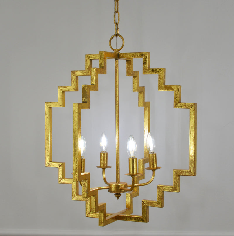 Lara 4 Light Gold Pendant Light - Lillian Home