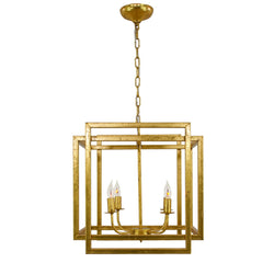 Soho 4 Light Gold Lantern - Lillian Home