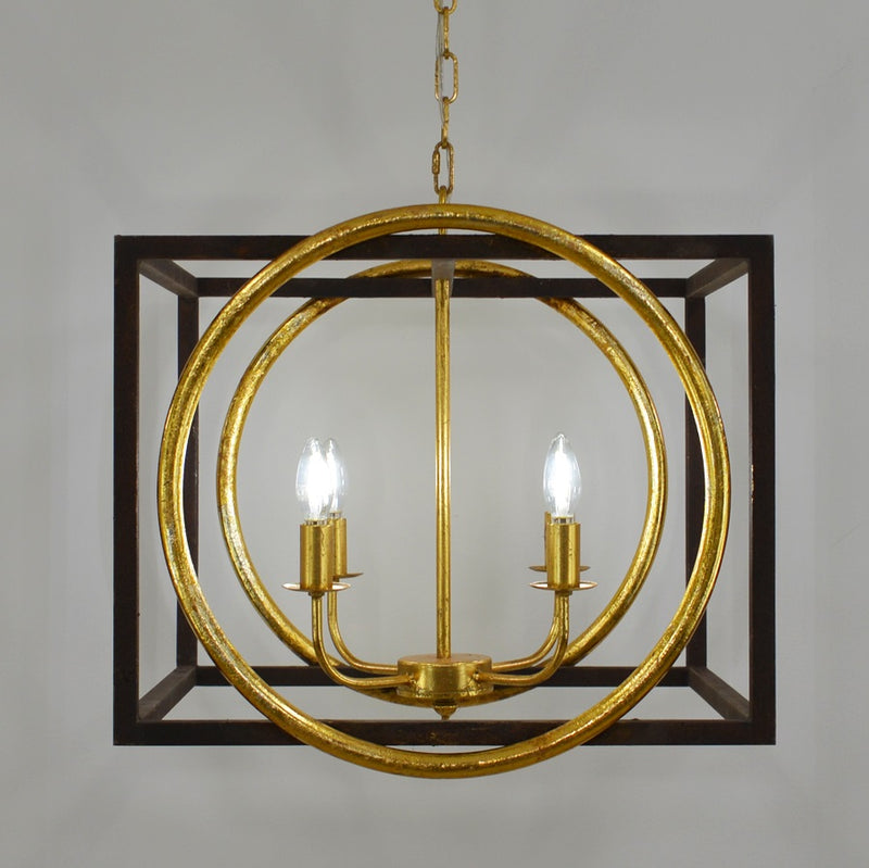 Francis 4 Light Brown and Gold Lighting - Lillian Home