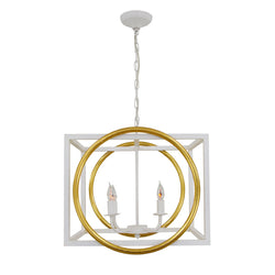 Francis 4 Light White and Gold Lighting - Lillian Home