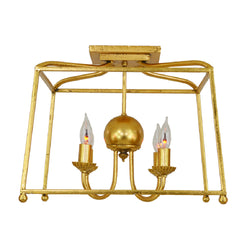 Brook 4 Light Gold Flush Mount - Lillian Home
