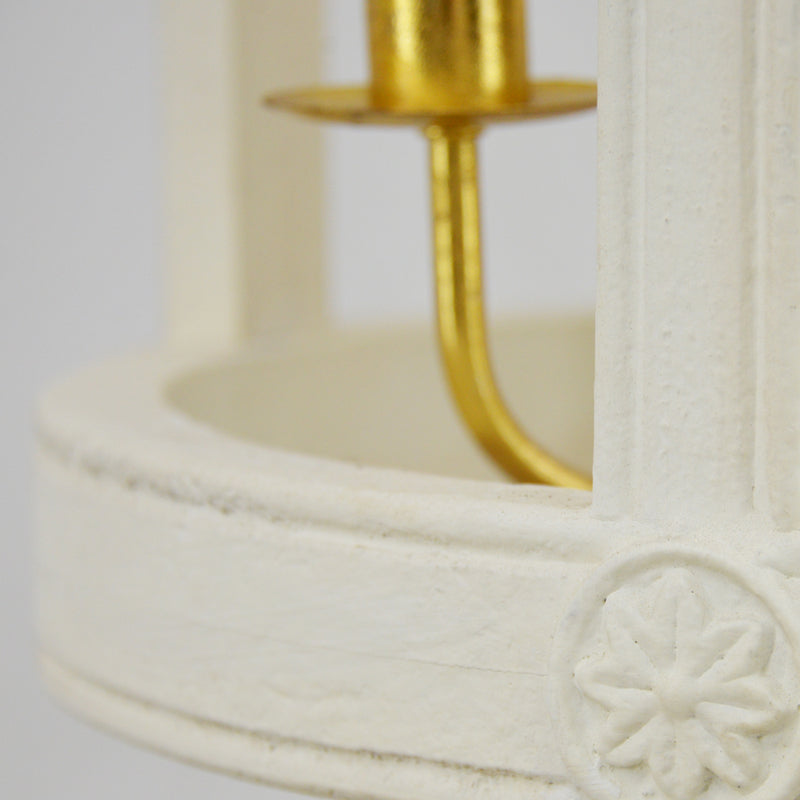 Lincoln 4 Light White and Gold Fixture- Lillian Home
