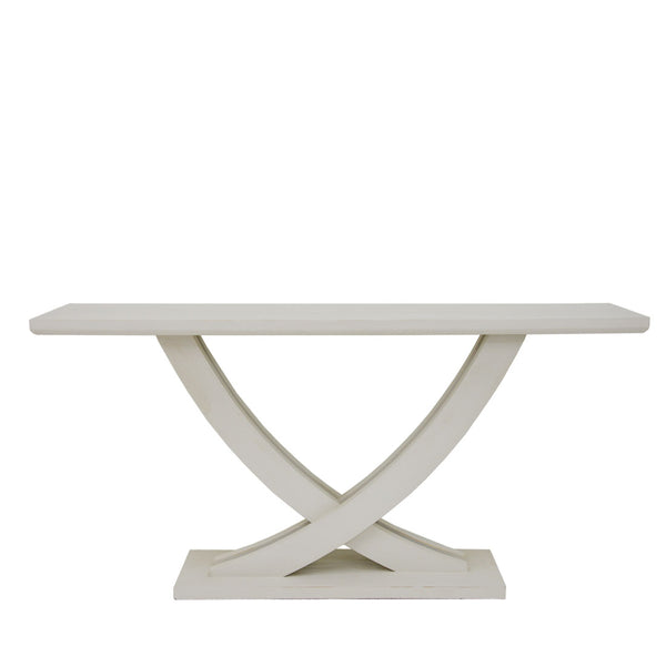 Linda Oak Wood Console Table- Lillian Home