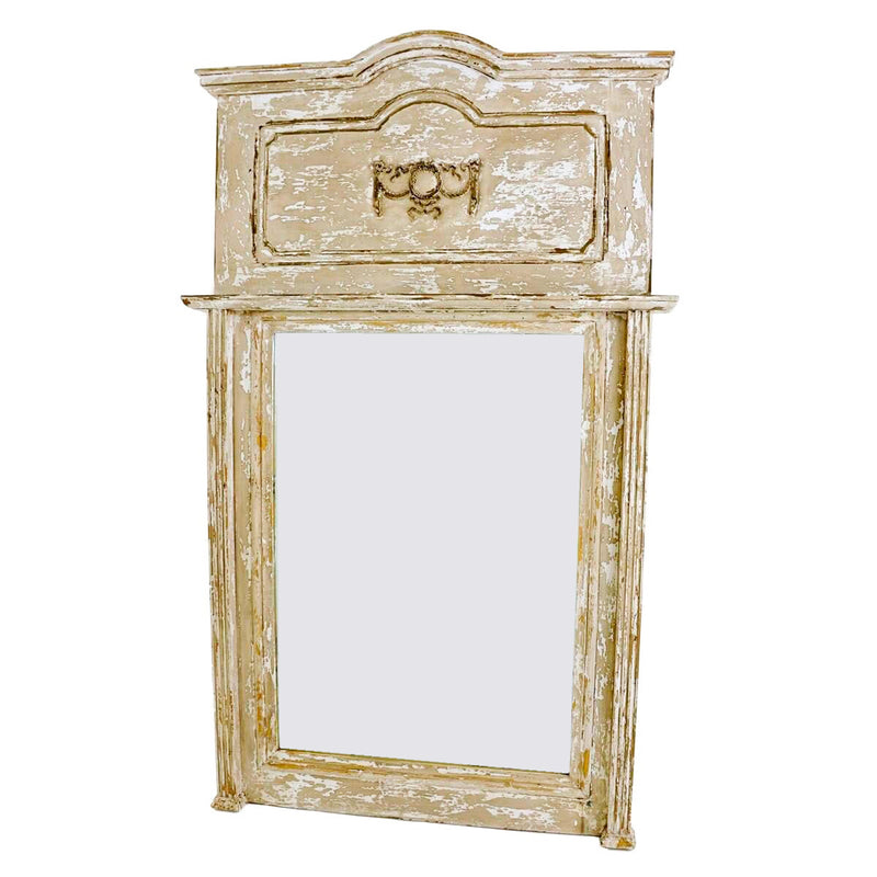 Lola Carved Wood Frame Mirror- Lillian Home