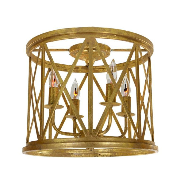 Lora 4 Light Gold Flush Mount - Lillian Home