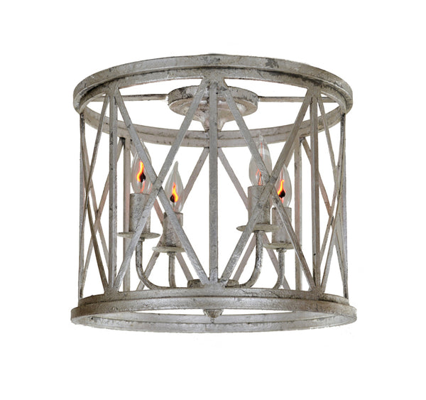 Lora 4 Light Silver Flush Mount - Lillian Home