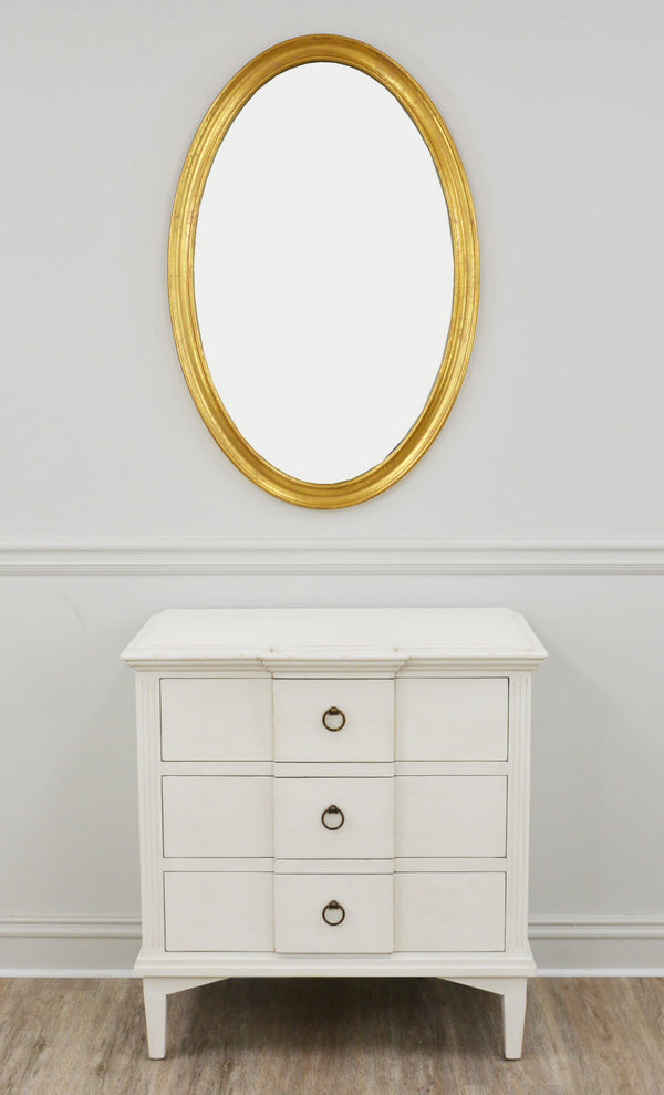Macon Oval Gold Mirror