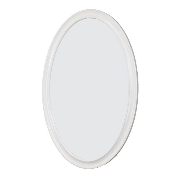 Macon White Oval Mirror