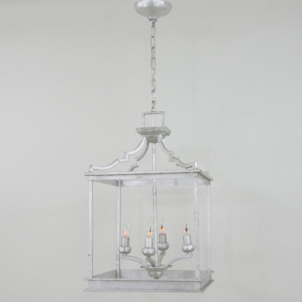 Mali 4 Light Silver Light Fixture- Lillian Home
