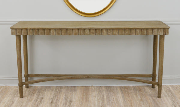 Mano Oak Wood Console Table- Lillian Home