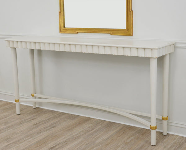 Mano White Console Table- Lillian Home