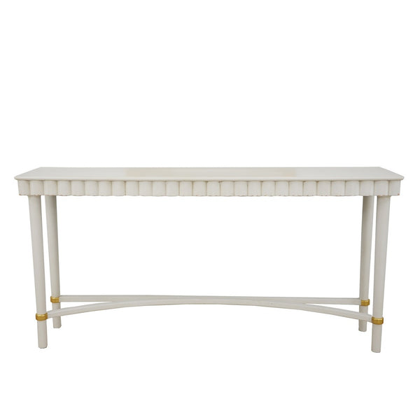 Mano White Oak Console Table- Lillian Home