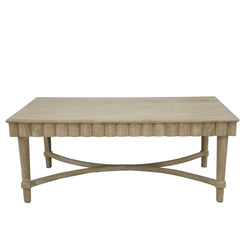 Manos Oak Coffee Table- Lillian Home