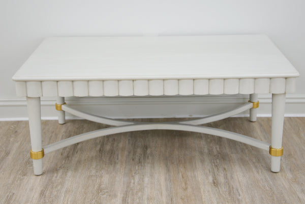 Manos White Coffee Table- Lillian Home