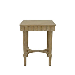 Manya Wood Side Table- Lillian Home