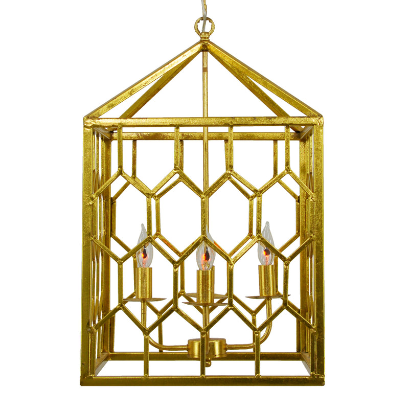 Mona 4 Light Gold Fixture- Lillian Home