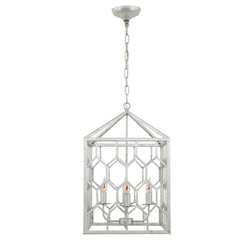 Mona 4 Light Silver Fixture- Lillian Home