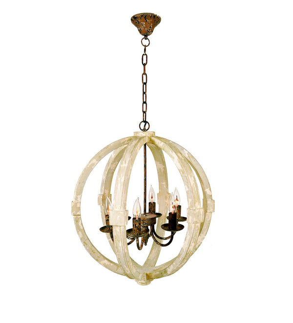 Moon 6 Light Orb Light Fixture- Lillian Home