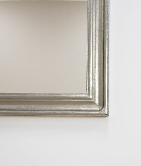 Nova Silver Leaf Louis Philippe Mirror