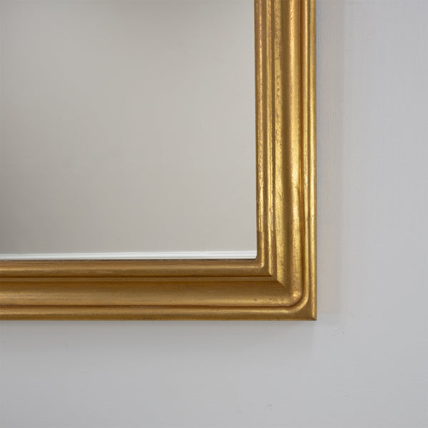 Ova Gold Leaf Louis Philippe Mirror- Lillian Home