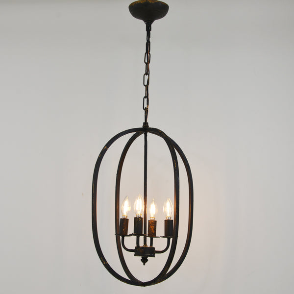 Ovation 4 Light Black Pendant Light Fixture- Lillian Home