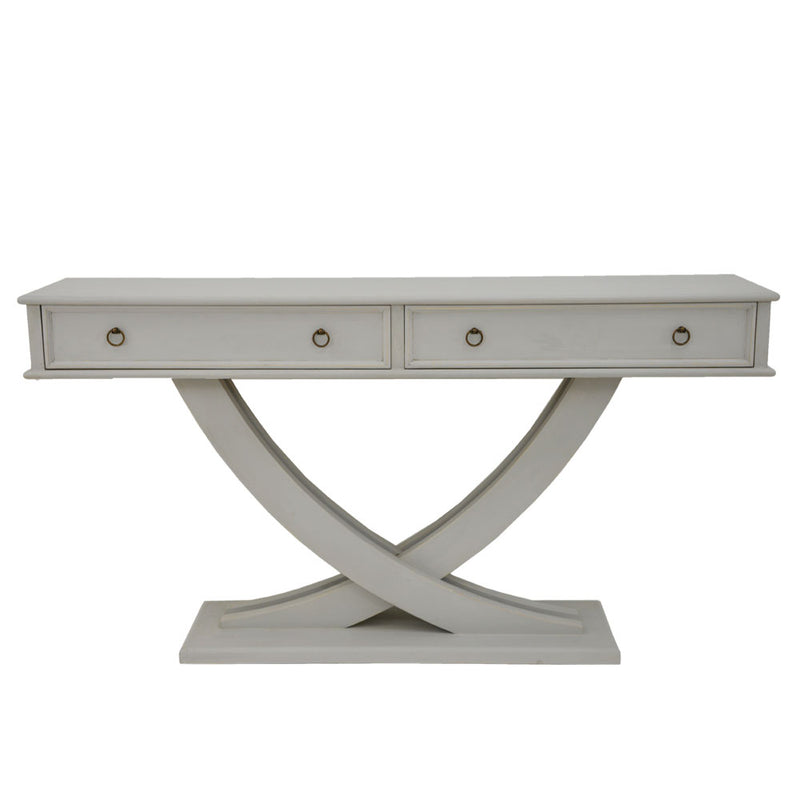 Pamela 2 Drawer Console Table- Lillian Home