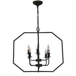 Panorama 8 Light Black Lighting Fixture- Lillian Home