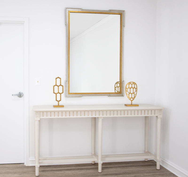 Pari Silver and Gold Wall Mirror-Lillian Home
