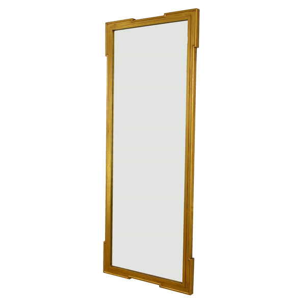 Lillian Home Parz Gold Leaf Floor Length Wall Mirror