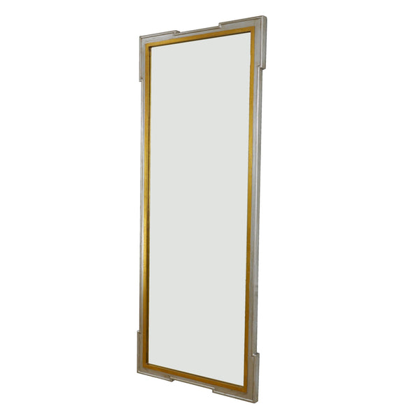 Lillian Home Parz Silver and Gold Floor Length Mirror
