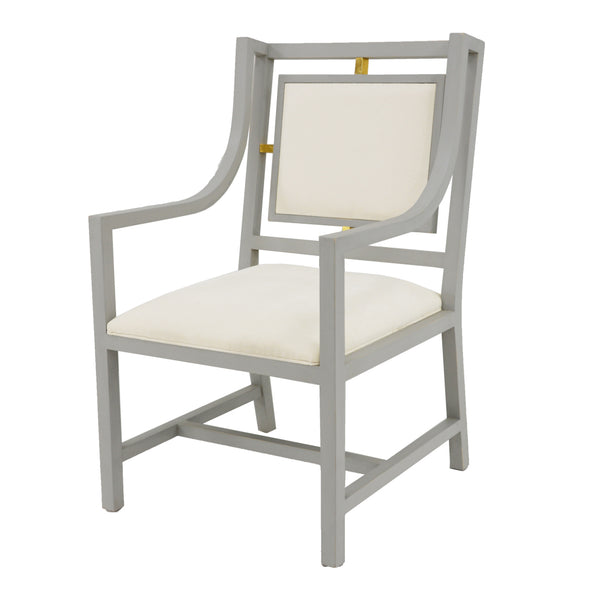 Patek Arm Chair Gray- Lillian Home